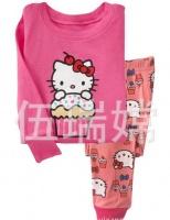 Пижама для девочек Hello Kitty малиновая