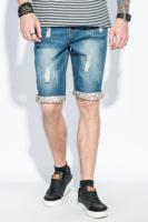 Шорты мужские джинс с задекорированным подворотом AG-0005984 Синий escape:'html'