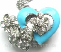 Часы - кулон «сердечко» на цепочке.