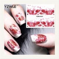 14-11/3 Цветочные наклейки на ногти/ Переводные наклейки