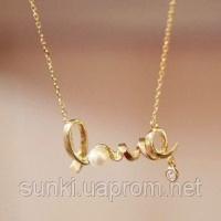 Подвеска «LOVE» под золото|escape:'html'
