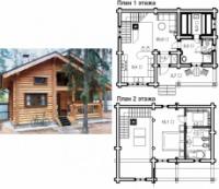 Проект деревянного дома 82.1 м2|escape:'html'