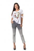 Женская белая футболка, р.42-56