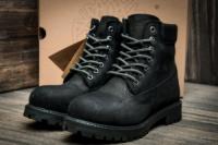 Ботинки мужские Timberland 6 premium boot, черные (3194-2),  [  40 (последняя пара)  ]