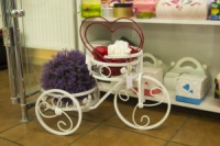 Подставка для цветов «Велосипед» 2 кашпо