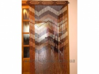 Шторы на дверь из деревянных бусин|escape:'html'