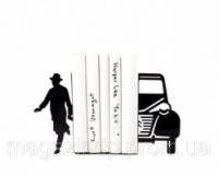 Держатель для книг Писатель и автомобиль Код:111726|escape:'html'