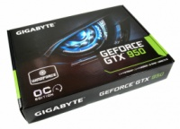 Gigabyte GeForce GTX 950 WindForce 2X 2048MB GDDR5 (128bit) (1102/6610) (2 x DVI, HDMI, DisplayPort) (GV-N950WF2O-2GD)