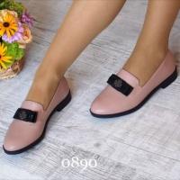Туфли на низком ходу пудра