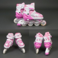 Роликовые коньки (ролики) Best Rollers 9001 «S и M» розовые|escape:'html'