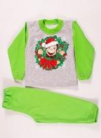 Пижама с начесом «Рождественская обезьянка» размеры 26-36|escape:'html'