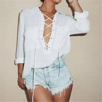 Женская рубашка на завязках с карманами|escape:'html'