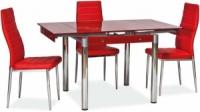 Стол стеклянный раскладной ТВ21 красный 80/130*65*75 см escape:'html'