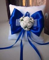 Подушечка для колец в синем цвете