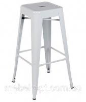 Металлический барный стул-табурет Tolix AC-012 белый, лофт,  дизайн Xavier Pauchard escape:'html'
