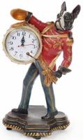 Декоративная фигурка с часами «Собака барабанщик» 45см