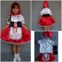 Детский карнавальный новогодний костюм Красная шапочка|escape:'html'