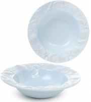 Набор 3 тарелки «Морской Бриз» Ø23.5см, суповые, светло-голубая керамика|escape:'html'