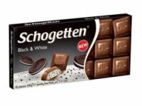 Шоколад Schogetten Black White, 100г. Германия, черный шоколад с белой кремовой начинкой