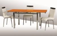 Стол стеклянный раскладной ТВ014 оранжевый 96/156*70*75 см escape:'html'