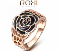 Кольцо Black Rose 18K покрытие золотом escape:'html'