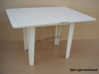 Стол обеденный раскладной ноги ДСП цвет Дуб молочный|escape:'html'