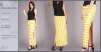 Яркая длинная летняя юбка в полоску|escape:'html'
