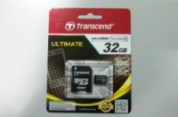 TRANSCEND microSD 32GB card Class 10 + SD adapter
