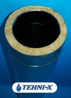 Утепленная труба из нержавейки длинна 0,5 м Ø 180x240 мм