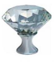 602047 Ручка кнопка мебельная GZ-CRPB25-01 Crystal Palace B 25мм /хром+клисталл/ escape:'html'
