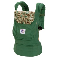 ORGANIC COLLECTION BABY CARRIER - GREEN W/RIVER ROCK PRINT LINING|escape:'html'