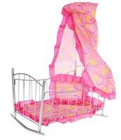 Кроватка качалка с балдахином 9349|escape:'html'