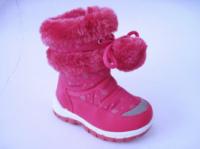 Детские теплые сапожки - дутики для девочки, р. 28-18 см, код 393