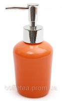 Дозатор (диспенсер) Bright Bathroom Ø7х15.3см для жидкого мыла, оранжевый|escape:'html'