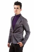 Пиджак мужской, стильный, на одной пуговице AG-0000170 Темно-серый|escape:'html'