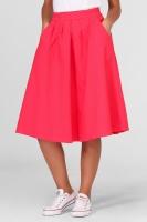 Пышная джинсовая юбка в коралловом цвете|escape:'html'