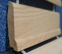 Плинтус для пола в ассортименте: МДФ плинтус, шпонированный плинтус, деревянный плинтус из дуба