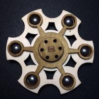 Спиннер деревянный Fidget Spinner шестигранник