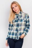 Рубашка на каждый день AG-0004441 Сине-зеленый|escape:'html'