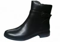 Супер кожаные женские осенние ботинки на низком каблуке с ремешком escape:'html'