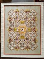 Картина «Благодарность» - вышита в технике Hardanger, на ткани равномерного плетения, окрас - винтаж с элементами бисер