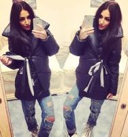 Очень теплая и стильная курточка-пуховик на завязках