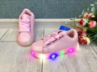 Кеды кроссовки Зефирка с LED подошвой светящиеся