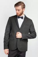Пиджак мужской классический офисный AG-0004034 Черно-зеленый|escape:'html'