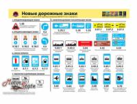 Плакат Новые дорожные знаки Монолит (рус) (1 лист)|escape:'html'