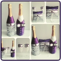 Свадебные бокалы и шампанское, свадебные аксессуары