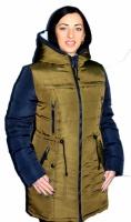 Теплая и модная куртка-парка Хаки