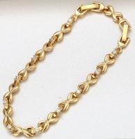 Браслет покрытие золотом с цирконами GF834
