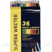 Карандаши цветные Marco 4100-36CB 36цветов D2,9мм шестигранные «SuperB Writer», картонная коробка с подвесом Код:401624424 escape:'html'