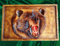 Панно ручной работы « Медведь »|escape:'html'